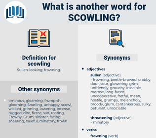 scowling, synonym scowling, another word for scowling, words like scowling, thesaurus scowling