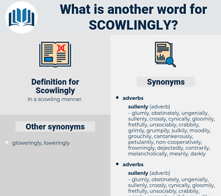 Scowlingly, synonym Scowlingly, another word for Scowlingly, words like Scowlingly, thesaurus Scowlingly