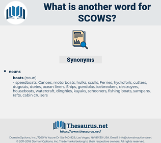 scows, synonym scows, another word for scows, words like scows, thesaurus scows