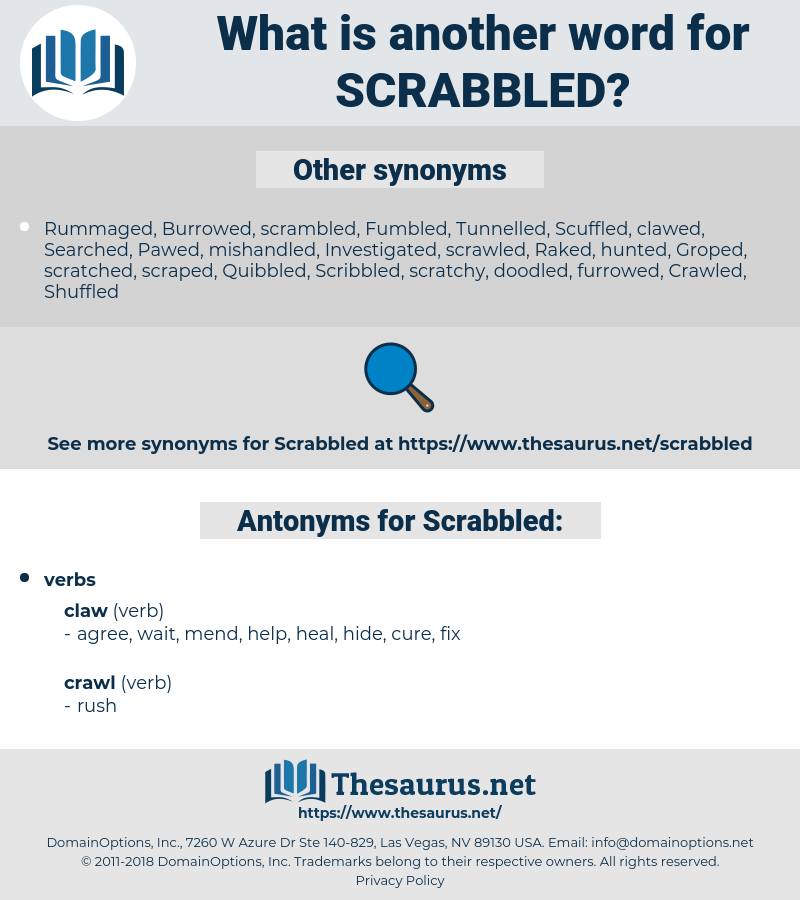 Scrabbled, synonym Scrabbled, another word for Scrabbled, words like Scrabbled, thesaurus Scrabbled