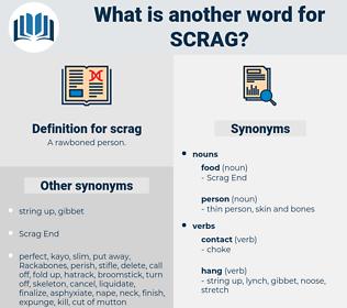 scrag, synonym scrag, another word for scrag, words like scrag, thesaurus scrag