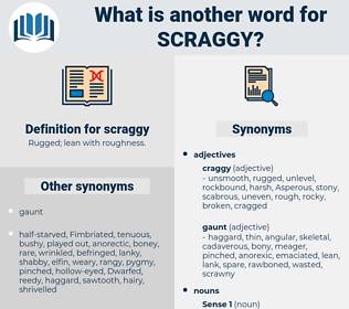 scraggy, synonym scraggy, another word for scraggy, words like scraggy, thesaurus scraggy
