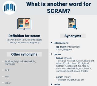 scram, synonym scram, another word for scram, words like scram, thesaurus scram