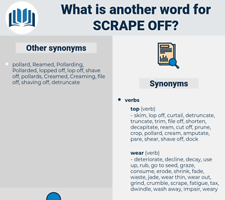 scrape off, synonym scrape off, another word for scrape off, words like scrape off, thesaurus scrape off