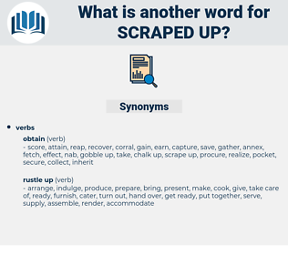 scraped up, synonym scraped up, another word for scraped up, words like scraped up, thesaurus scraped up
