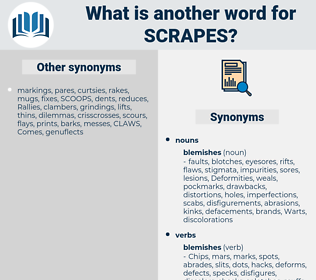 scrapes, synonym scrapes, another word for scrapes, words like scrapes, thesaurus scrapes