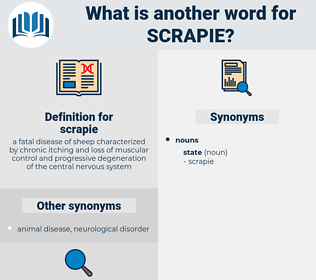 scrapie, synonym scrapie, another word for scrapie, words like scrapie, thesaurus scrapie
