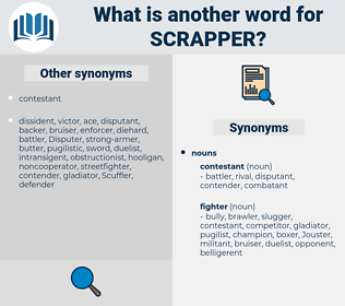 scrapper, synonym scrapper, another word for scrapper, words like scrapper, thesaurus scrapper
