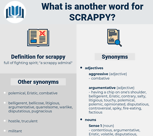 scrappy, synonym scrappy, another word for scrappy, words like scrappy, thesaurus scrappy