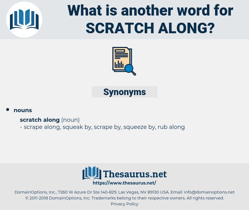 scratch along, synonym scratch along, another word for scratch along, words like scratch along, thesaurus scratch along