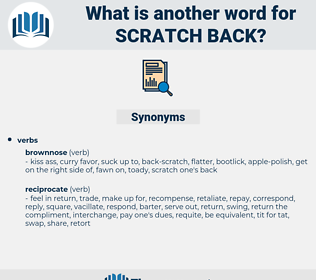 scratch back, synonym scratch back, another word for scratch back, words like scratch back, thesaurus scratch back