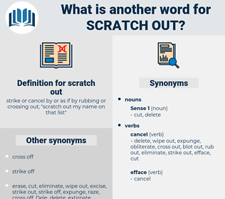 scratch out, synonym scratch out, another word for scratch out, words like scratch out, thesaurus scratch out