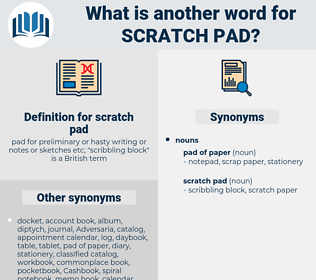 scratch pad, synonym scratch pad, another word for scratch pad, words like scratch pad, thesaurus scratch pad
