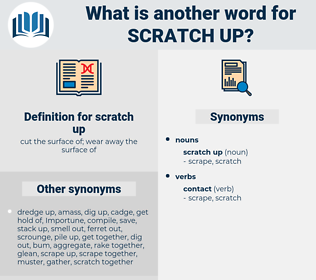 scratch up, synonym scratch up, another word for scratch up, words like scratch up, thesaurus scratch up