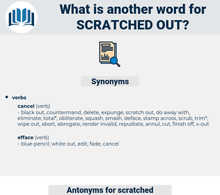 scratched out, synonym scratched out, another word for scratched out, words like scratched out, thesaurus scratched out