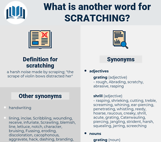scratching, synonym scratching, another word for scratching, words like scratching, thesaurus scratching