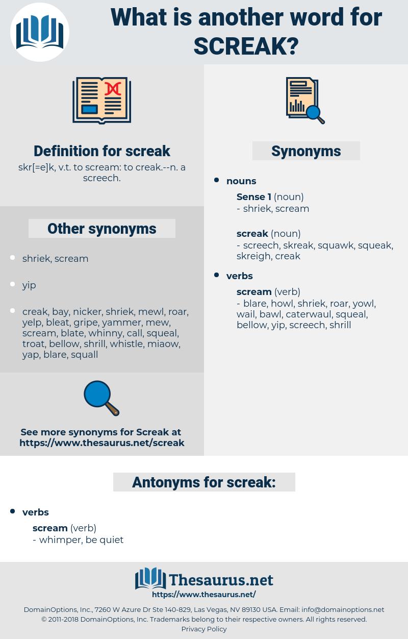 screak, synonym screak, another word for screak, words like screak, thesaurus screak