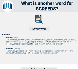 screeds, synonym screeds, another word for screeds, words like screeds, thesaurus screeds