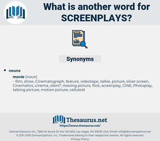 screenplays, synonym screenplays, another word for screenplays, words like screenplays, thesaurus screenplays