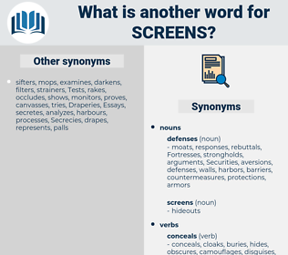 screens, synonym screens, another word for screens, words like screens, thesaurus screens