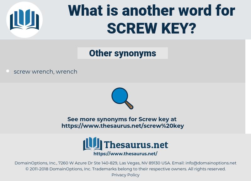 screw key, synonym screw key, another word for screw key, words like screw key, thesaurus screw key