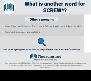 screw, synonym screw, another word for screw, words like screw, thesaurus screw