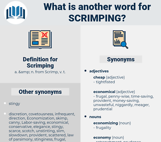 Scrimping, synonym Scrimping, another word for Scrimping, words like Scrimping, thesaurus Scrimping