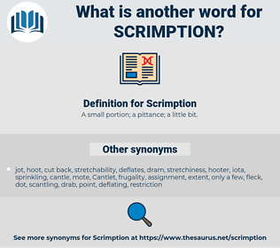 Scrimption, synonym Scrimption, another word for Scrimption, words like Scrimption, thesaurus Scrimption