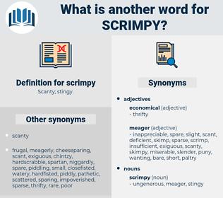 scrimpy, synonym scrimpy, another word for scrimpy, words like scrimpy, thesaurus scrimpy