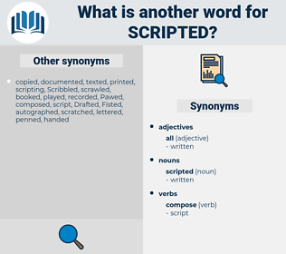scripted, synonym scripted, another word for scripted, words like scripted, thesaurus scripted