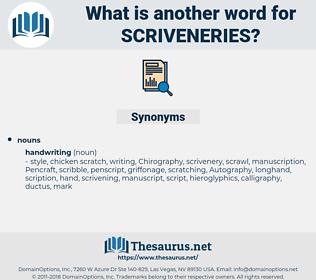scriveneries, synonym scriveneries, another word for scriveneries, words like scriveneries, thesaurus scriveneries