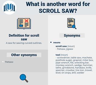 scroll saw, synonym scroll saw, another word for scroll saw, words like scroll saw, thesaurus scroll saw