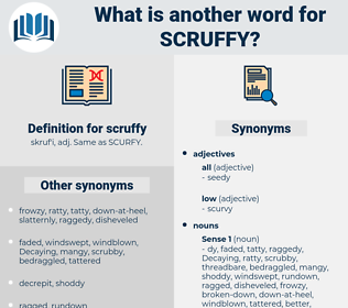 scruffy, synonym scruffy, another word for scruffy, words like scruffy, thesaurus scruffy