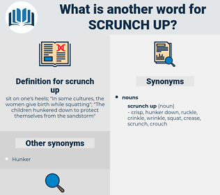 scrunch up, synonym scrunch up, another word for scrunch up, words like scrunch up, thesaurus scrunch up