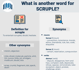 scruple, synonym scruple, another word for scruple, words like scruple, thesaurus scruple