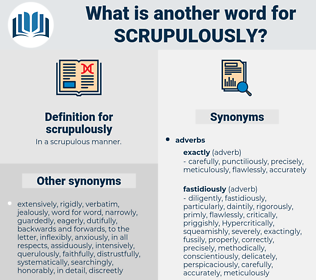 scrupulously, synonym scrupulously, another word for scrupulously, words like scrupulously, thesaurus scrupulously