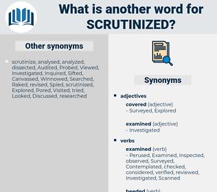 Scrutinized, synonym Scrutinized, another word for Scrutinized, words like Scrutinized, thesaurus Scrutinized