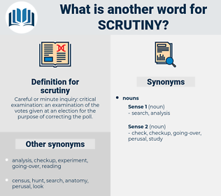 scrutiny, synonym scrutiny, another word for scrutiny, words like scrutiny, thesaurus scrutiny