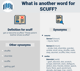 scuff, synonym scuff, another word for scuff, words like scuff, thesaurus scuff