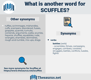 scuffles, synonym scuffles, another word for scuffles, words like scuffles, thesaurus scuffles