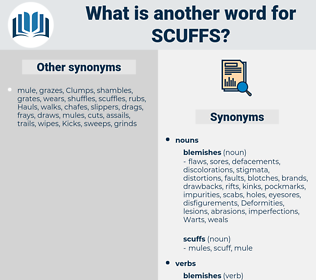 scuffs, synonym scuffs, another word for scuffs, words like scuffs, thesaurus scuffs