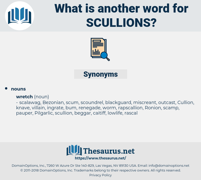 scullions, synonym scullions, another word for scullions, words like scullions, thesaurus scullions