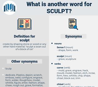 sculpt, synonym sculpt, another word for sculpt, words like sculpt, thesaurus sculpt