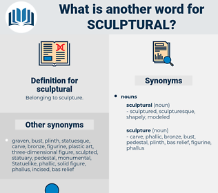 sculptural, synonym sculptural, another word for sculptural, words like sculptural, thesaurus sculptural