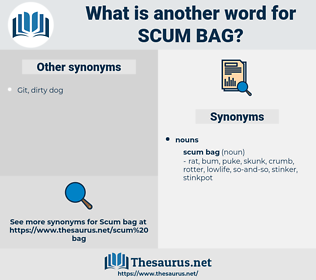 scum bag, synonym scum bag, another word for scum bag, words like scum bag, thesaurus scum bag
