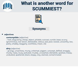 scummiest, synonym scummiest, another word for scummiest, words like scummiest, thesaurus scummiest