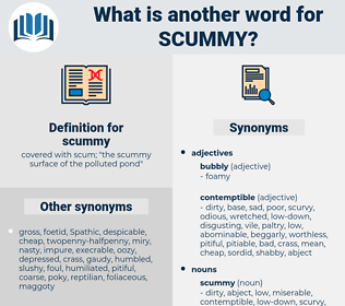 scummy, synonym scummy, another word for scummy, words like scummy, thesaurus scummy