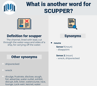 scupper, synonym scupper, another word for scupper, words like scupper, thesaurus scupper