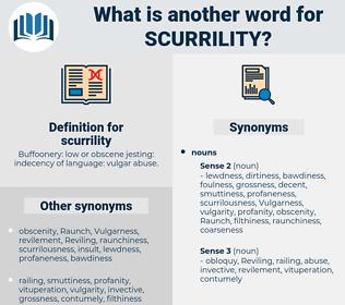 scurrility, synonym scurrility, another word for scurrility, words like scurrility, thesaurus scurrility