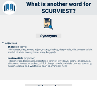 scurviest, synonym scurviest, another word for scurviest, words like scurviest, thesaurus scurviest